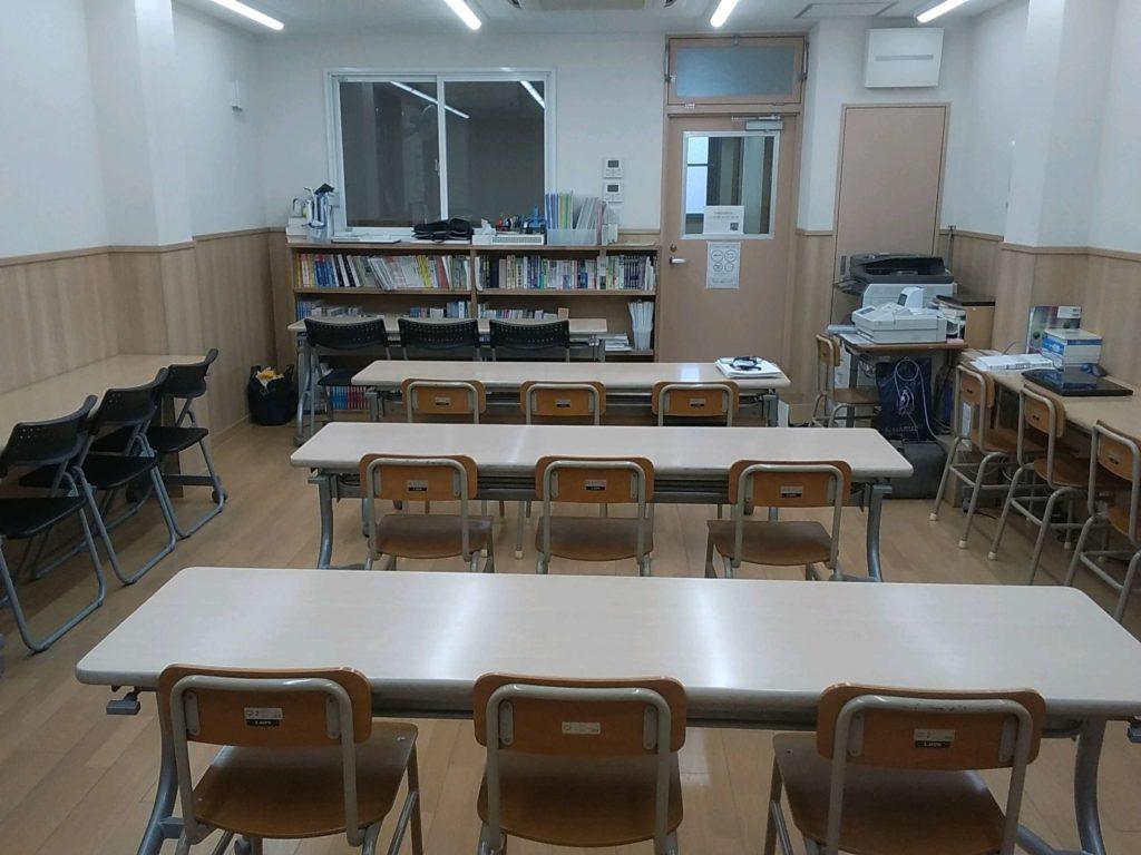 二階の教室はこんな感じ
